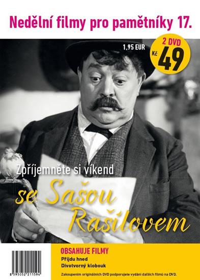 Nedělní filmy pro pamětníky 17. - Saša Rašilov - 2 DVD pošetka