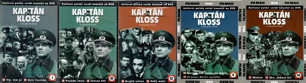 Kolekce Kapitán Kloss 5DVD ( nekompletní )