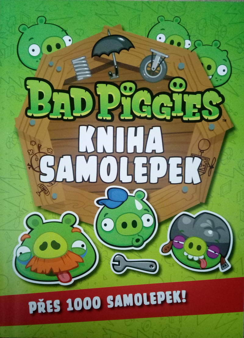 Bad Piggies kniha samolepek