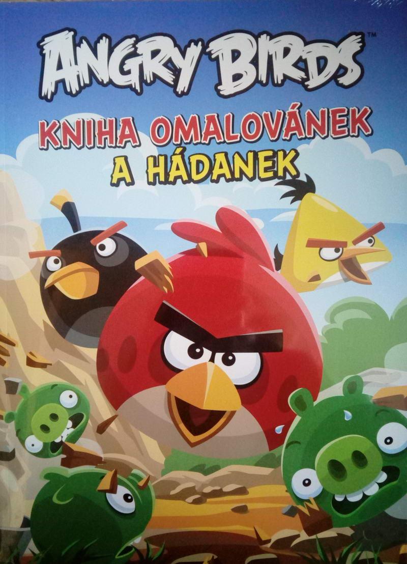 Angry birds - Kniha omalovánek a hádanek
