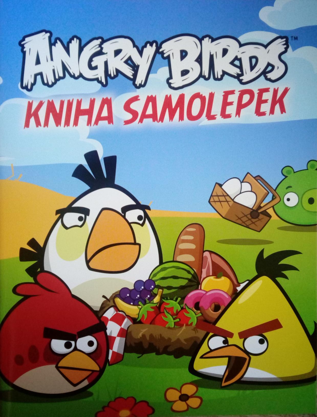 Angry Birds kniha samolepek