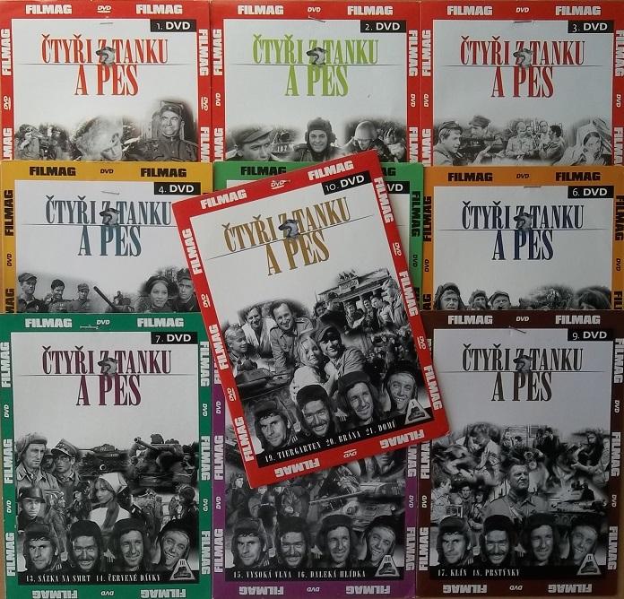 Kolekce Čtyři z tanku a pes -  10 DVD