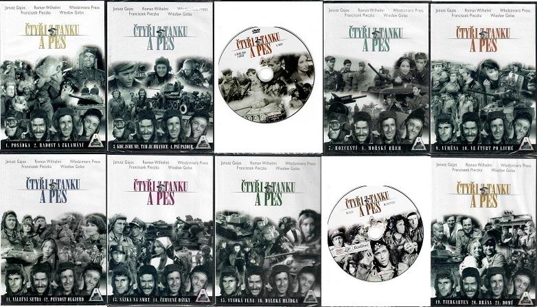 Kolekce Čtyři z tanku a pes - 8x DVD plast + 2x disk KOMPLET díly 1-21