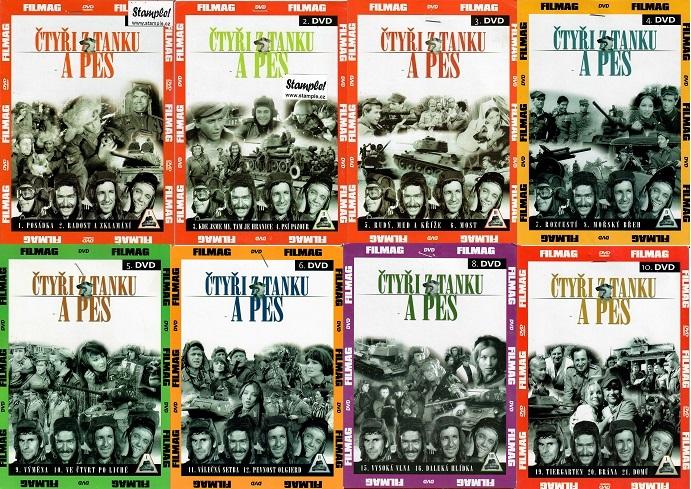 Kolekce Čtyři z tanku a pes - 8 DVD ( nekompletní )