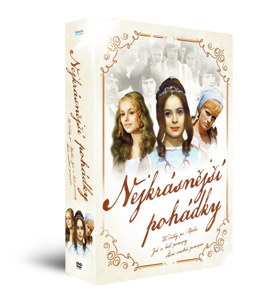 Nejkrásnější pohádky: Tři oříšky pro Popelku + Šíleně smutná princezna + Jak se - DVD