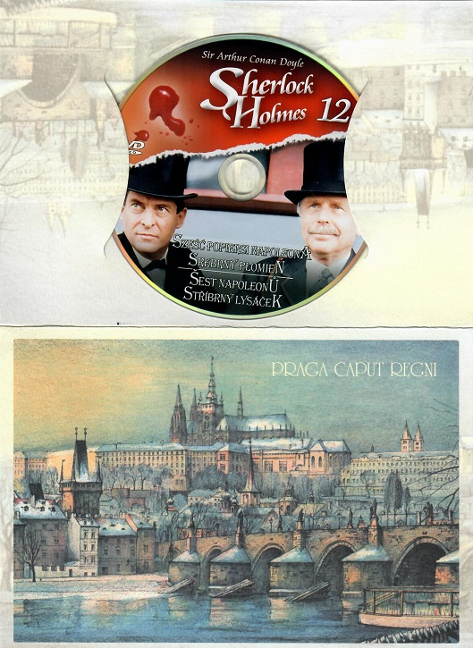 Sherlock Holmes 12 - Šest napoleonů/Stříbrný lysáček ( dárkový obalm Praha ) - D
