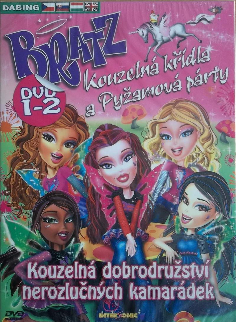 Bratz 1-2 - Kouzelná křídla a Pyžamová párty Digipack - DVD