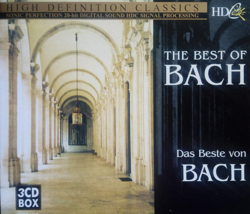 The best of BACH - Box 3CD