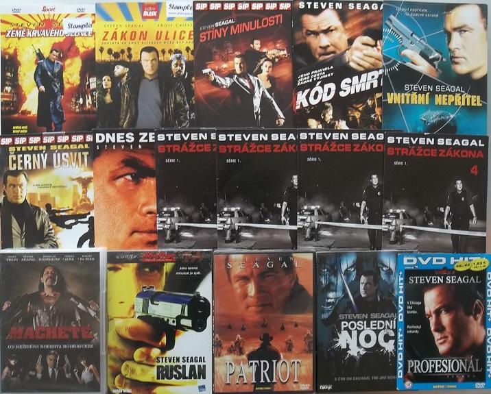 Velká kolekce Steven Seagal - 17 DVD