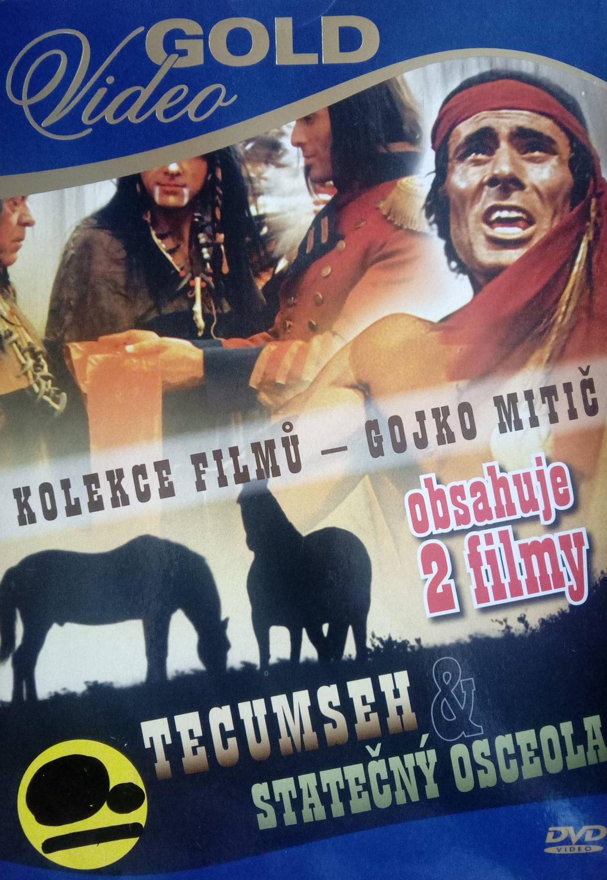 Kolekce filmů Gojko Mitič - Tecumseh & Statečný Osceola -pošetka - DVD