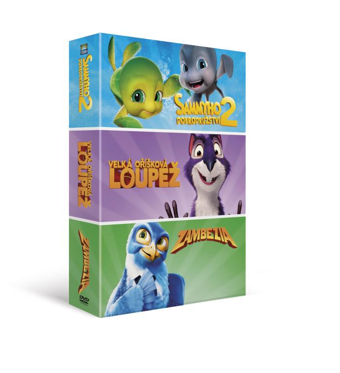 Animáky kolekce I. (3DVD): Velká oříšková loupež, Sammyho dobrodružství 2, Zambe