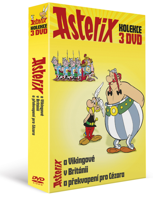 Asterixova kolekce (3DVD): Asterix a Vikingové, Asterix v Británii, Asterix a př