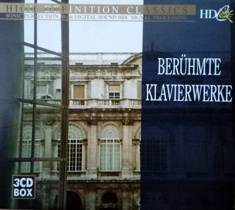 High definition classical Berühmte klavierwerke 3CD