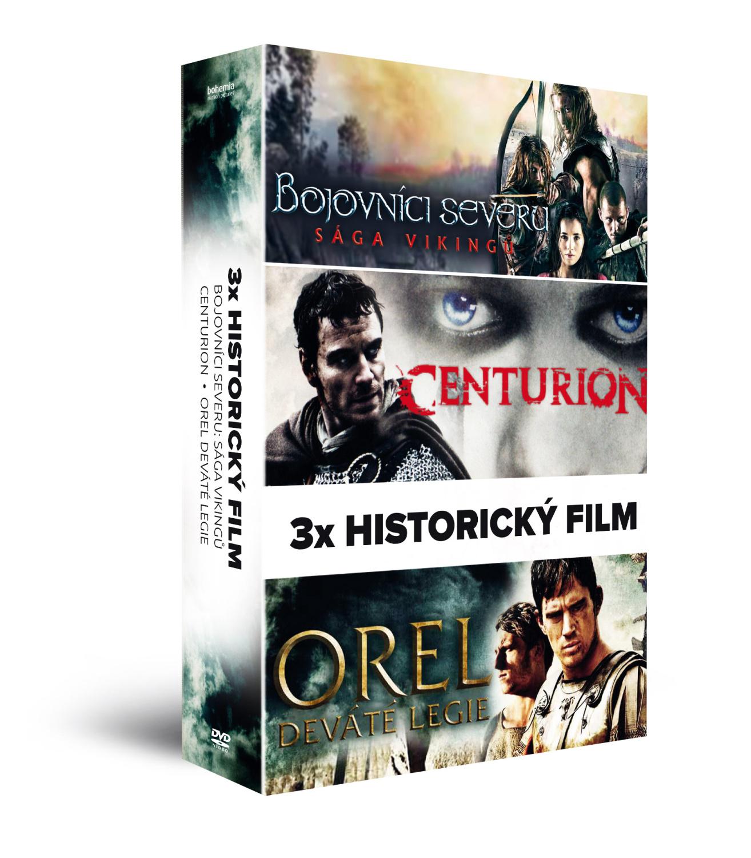 3x Historický film (3DVD): Bojovníci severu: Sága Vikingů + Centurion + Orel Dev