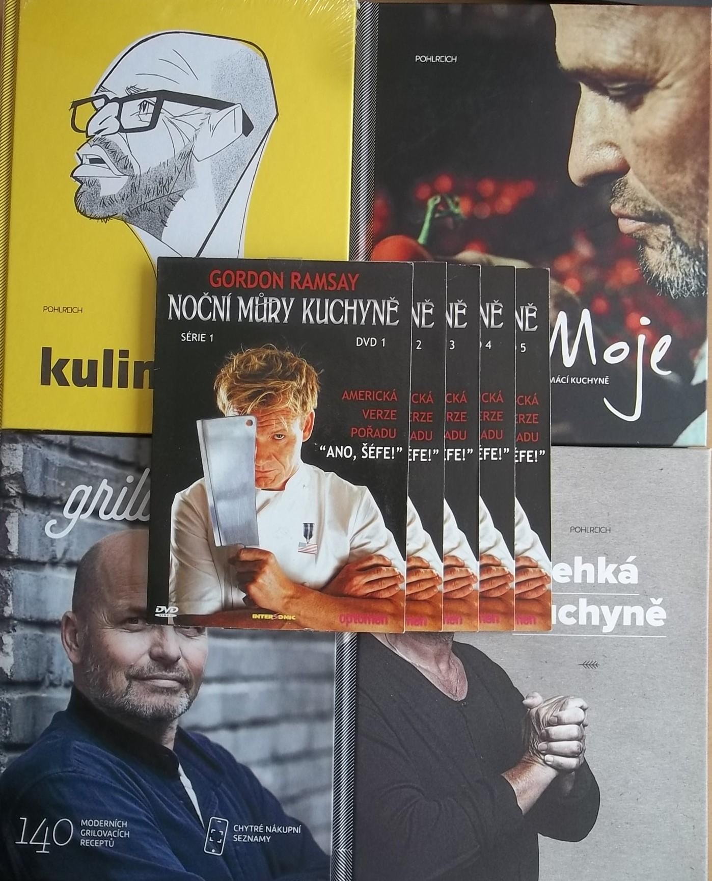 Knižní kolekce Zdeněk Pohlreich 4knihy + 5DVD DÁREK
