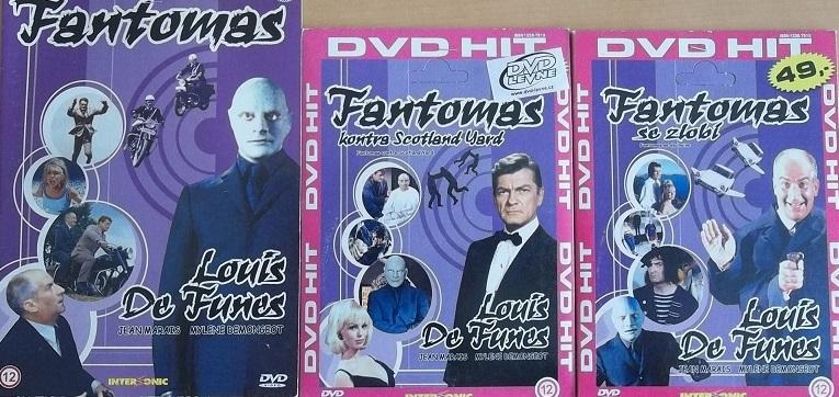 Kolekce Fantomas 3DVD