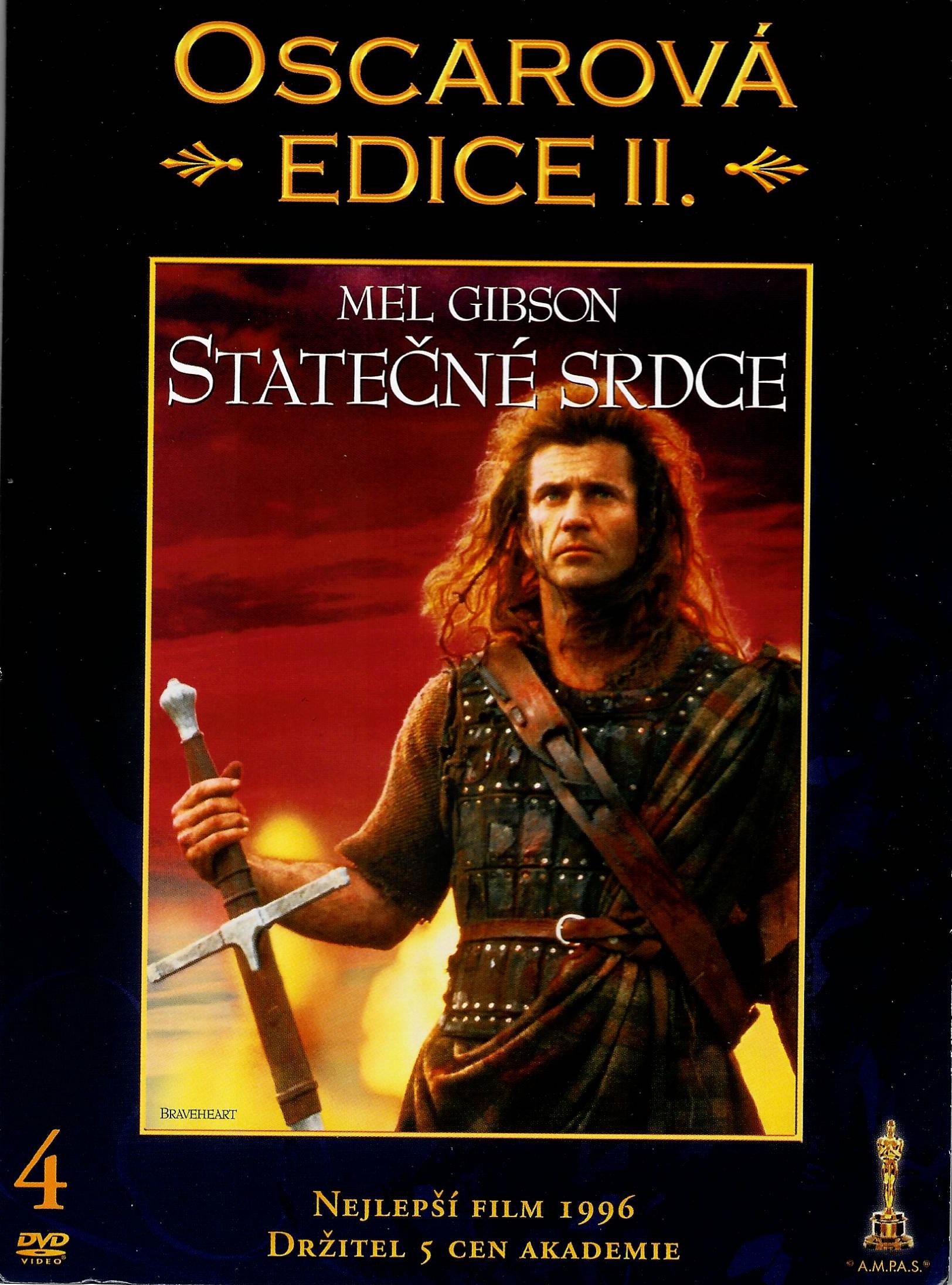 Statečné srdce - Oscarová edice II. - digipack DVD