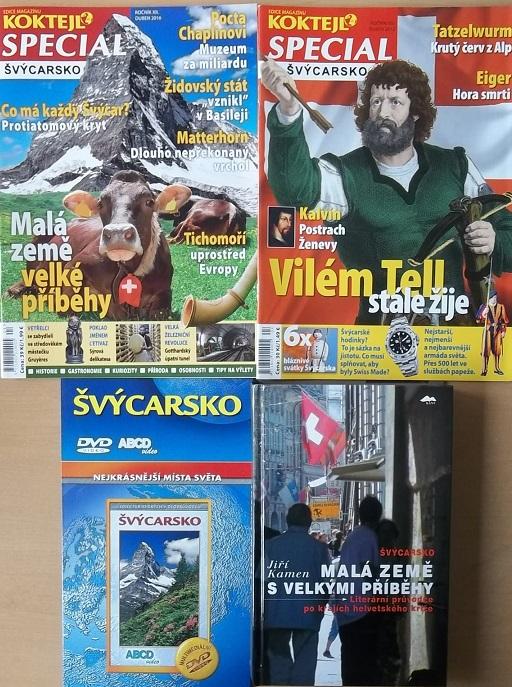 Kolekce Švýcarsko ( 1x kniha, 2x časopis koktejl, 1x DVD cestopisné )