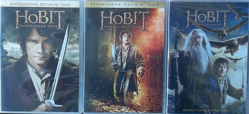 Kolekce Hobit 3 DVD