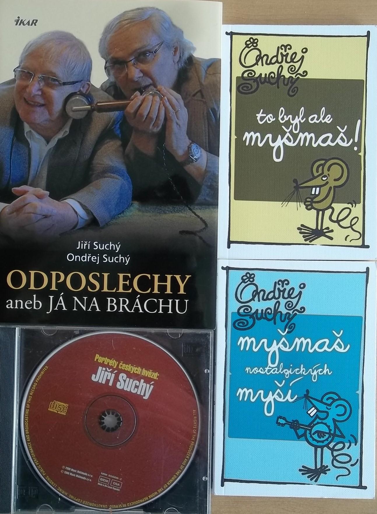 Knižní kolekce Ondřej a Jiří Suchý + CD dárek
