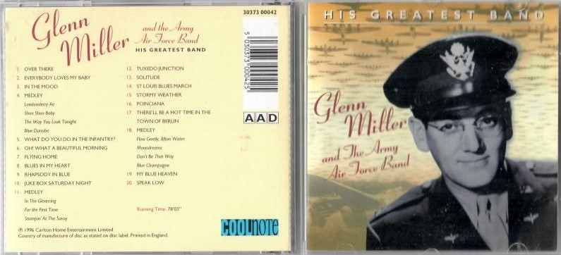 Glenn Miller and The Army Air Force Band - CD
