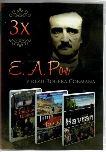 3x  E. A. POE v režii Rogera Cormana - 3 DVD