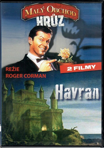 2x DVD Malý obchod hrůz / Havran ( Plast ) - DVD