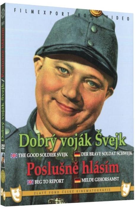Dobrý voják Švejk + Poslušně hlásím - 2x DVD - digipack v šubru