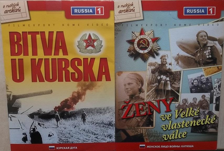 2x DVD Bitva u Kurska + Ženy ve Velké vlastenecké válce - papírová pošetka DVD