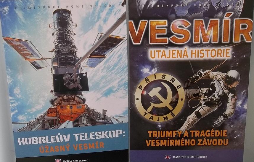2x DVD Hubbleuv teleskop + Vesmír: Utajená historie - papírová pošetka DVD