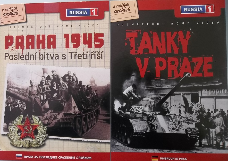 2x DVD  Praha 1945 + Tanky v Praze - papírová pošetka