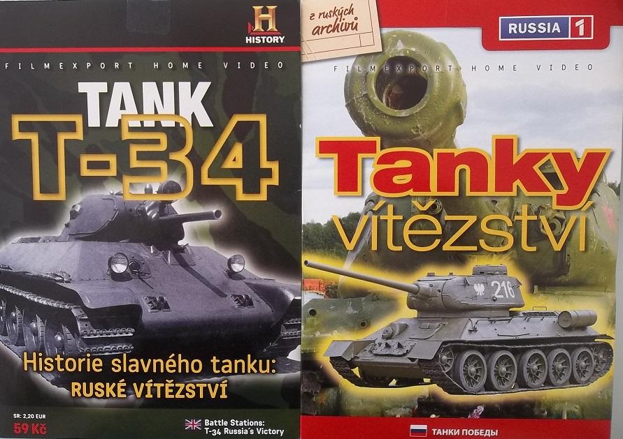 2x DVD Tank T-34 + Tanky vítězství - papírová pošetka DVD