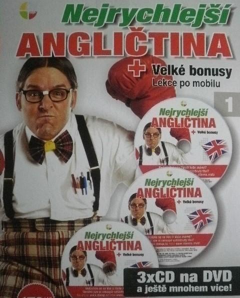 Nejrychlejší angličtina + velké bonusy lekce po mobilu 1 - DVD