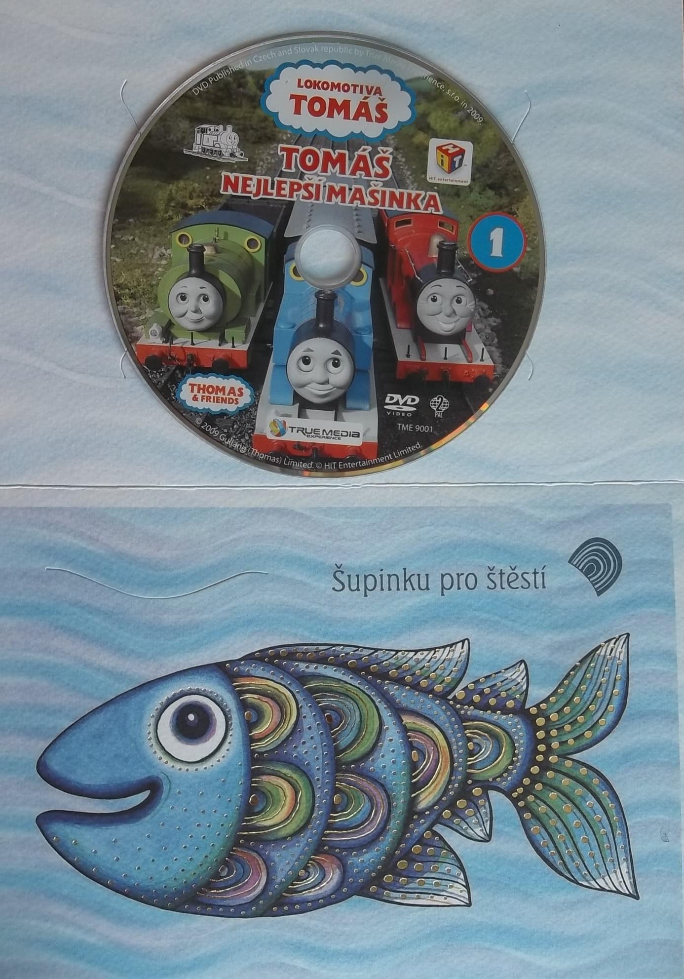 Lokomotiva Tomáš nejlepší mašinka- DVD (dárková obálka)