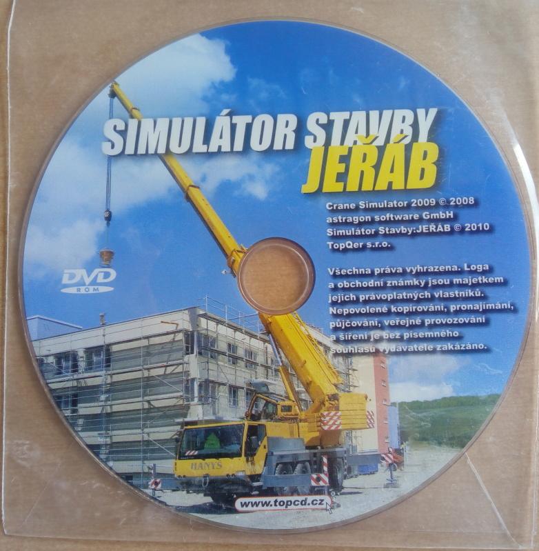 PC hra - Simulátor stavby jeřáb (v dvd sáčku)