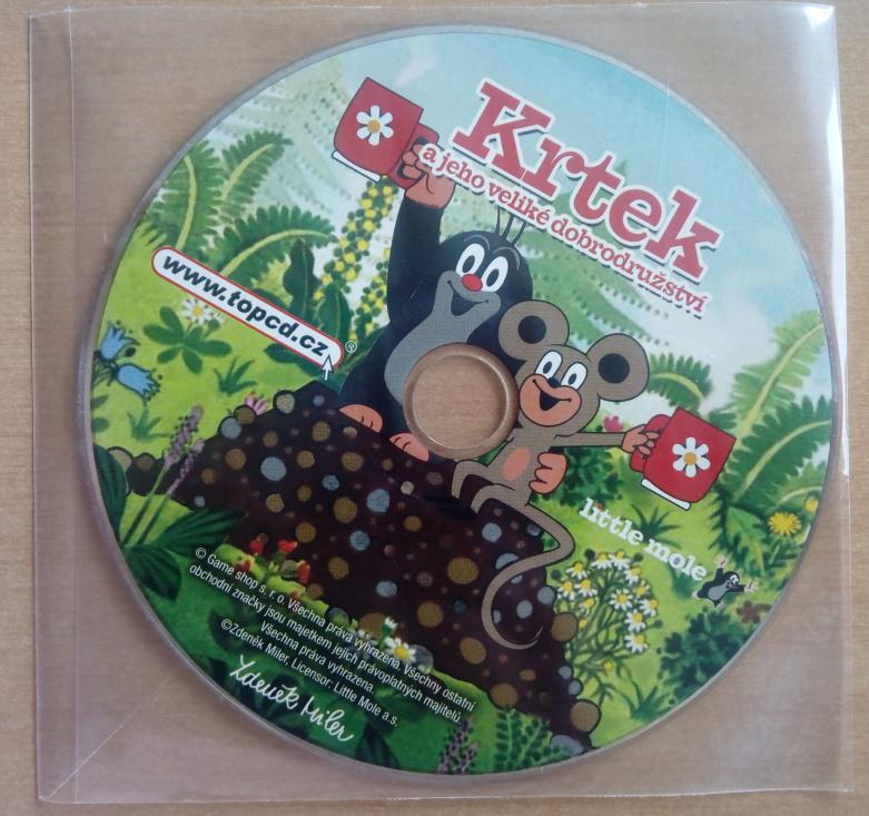 PC hra - Krtek a jeho veliké dobrodružství (v DVD sáčku)