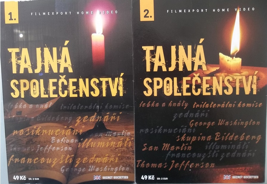 2x DVD Tajná společenství 1 + Tajná společenství 2 - papírová pošetka DVD