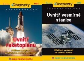 2x DVD Uvnitř raketoplánu + Uvnitř vesmírné stanice - papírová pošetka