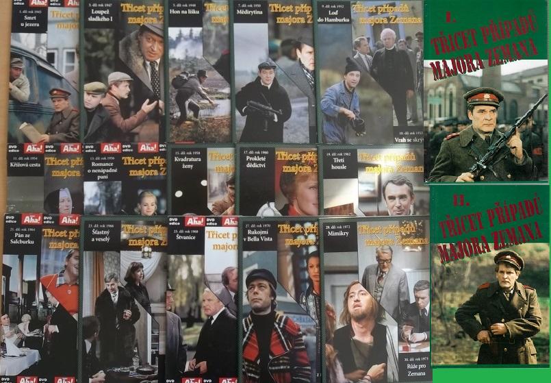 Kolekce Major Zeman ( 2x kniha bazarová + 15 DVD )