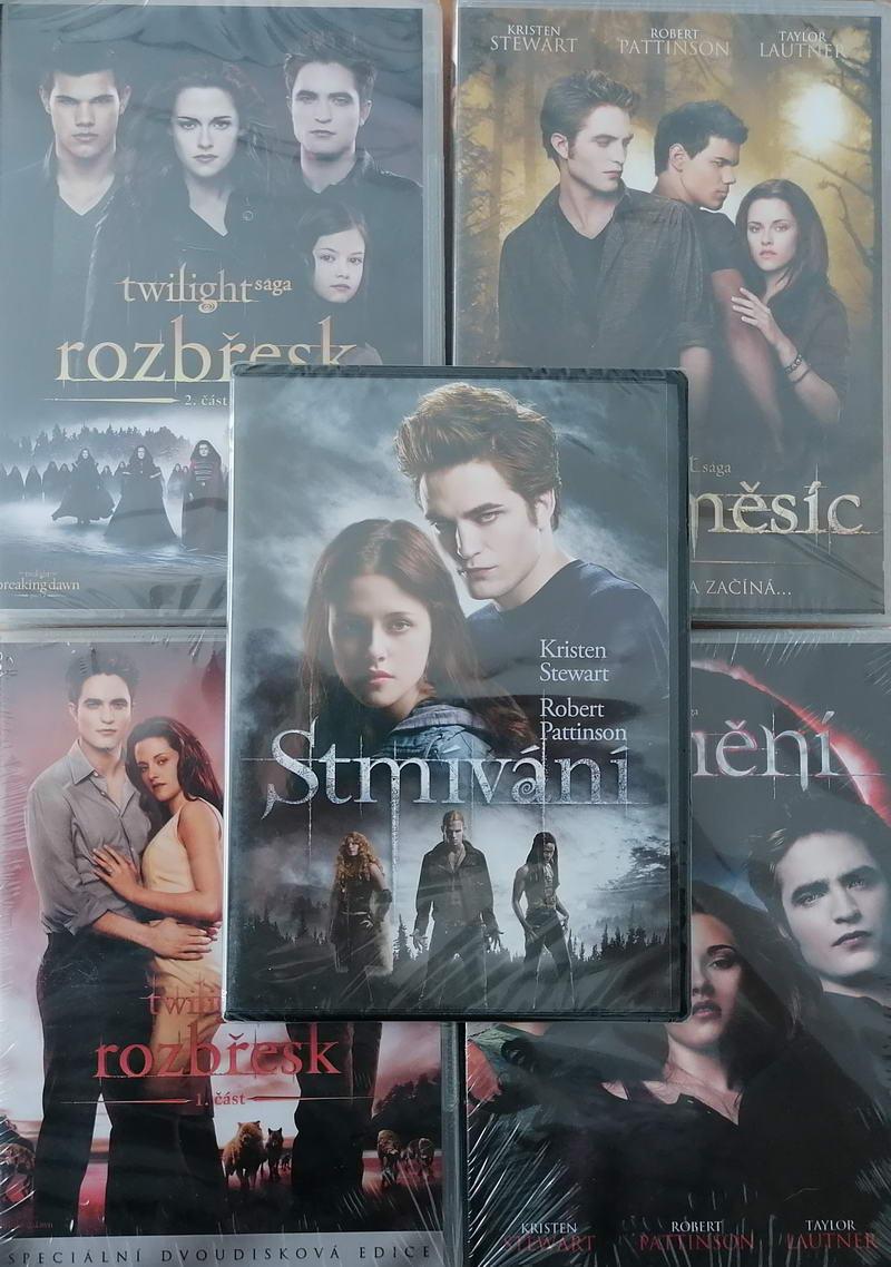 Kolekce Twilight sága kompletní DVD/5x DVD v plastu/