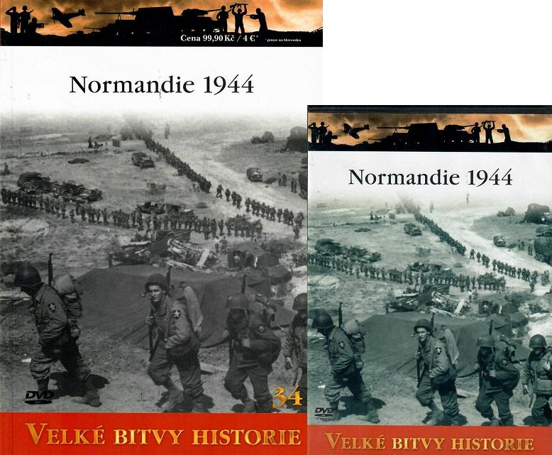 Velké bitvy historie 34 - Normandie 1944 (Časopis + DVD )
