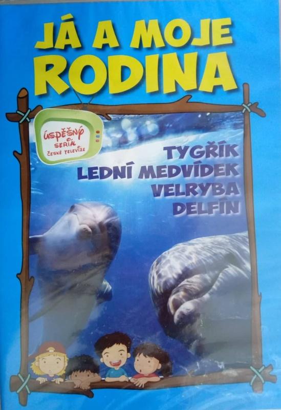 Já a moje rodina: Tygřík, lední medvídek, velryba, delfín DVD  plast