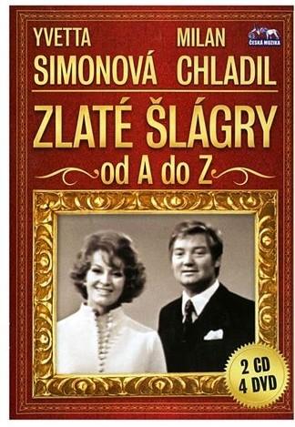 Zlaté šlágry od A do Z - Simonová, Chladil 4DVD + 2CD