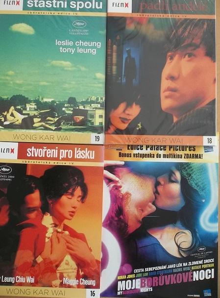 Kolekce Wong Kar Wai 4 DVD /3x digipack,1xpapír/
