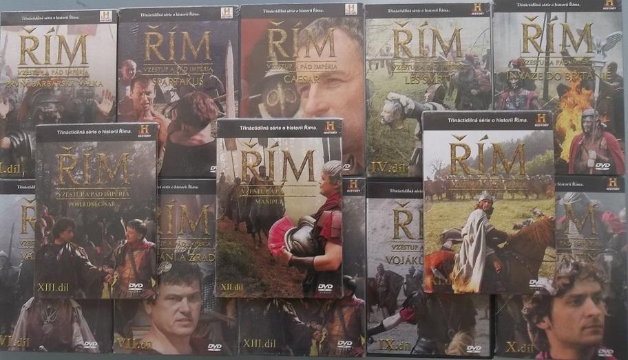 Kolekce Řím - Vzestup a pád impéria - 13 DVD
