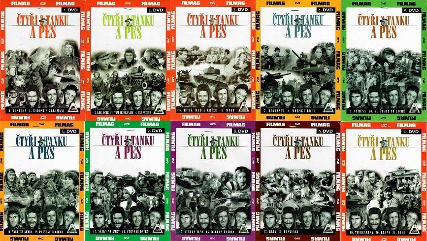 Kolekce Čtyři z tanku a pes - 10 DVD papírové pošetky