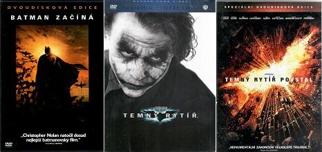 Kolekce Temný rytíř - 3 DVD