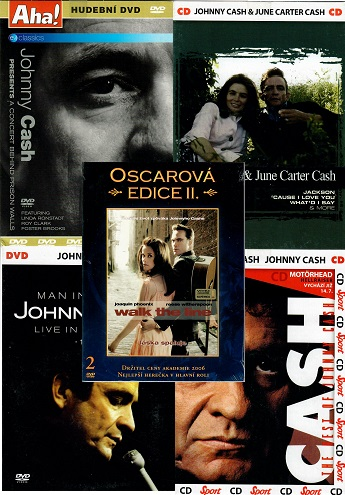 Kolekce Johnny Cash 3x DVD+ 2x CD