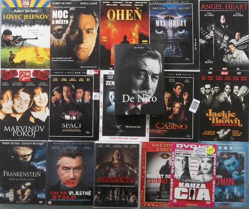 Kolekce Robert de Niro - 1x kniha + 16x DVD