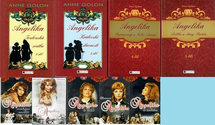 Kolekce Angelika ( 4x kniha bazarová + 5x DVD )